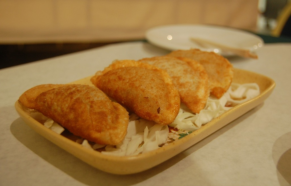 Pierogi z serem, szpinakiem i kapustą