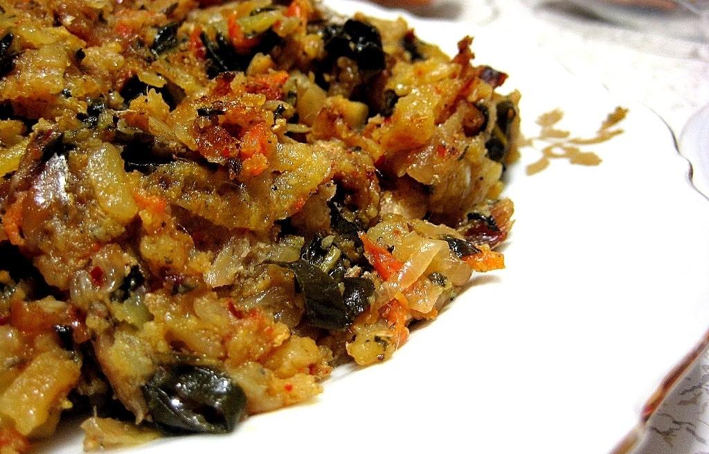Anchios z warzywami