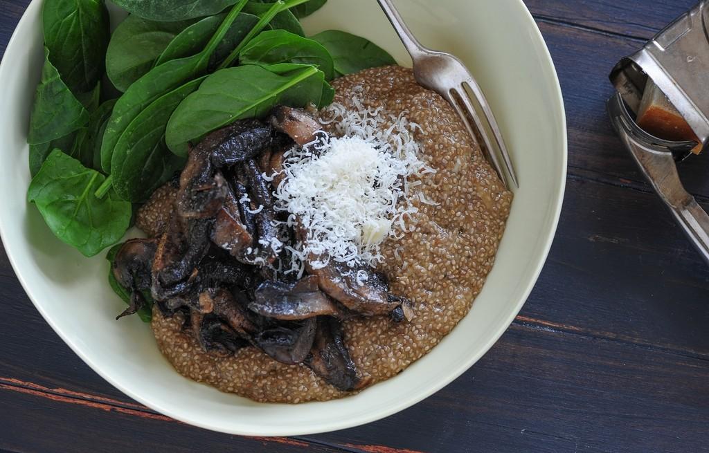 Miks ryżowy z pieczarkami i parmezanem