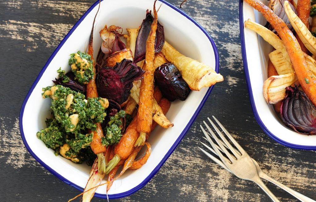 Warzywa smażone z pesto