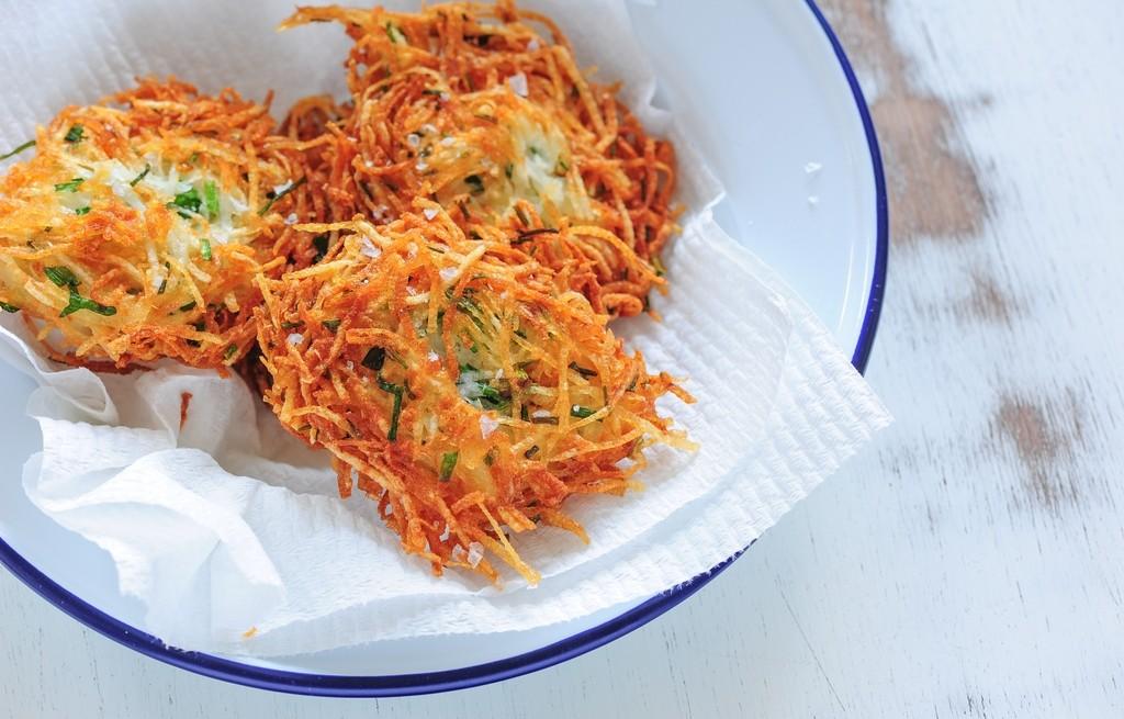 Rosti ziemniaczane z serem i marchewką
