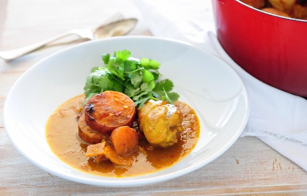 Curry z kurczaka i batatów