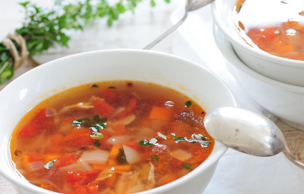 Zupa z grillowanego kurczaka