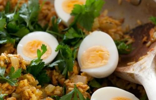 Kedgeree z łososiem