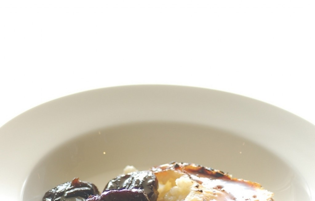 Pudding ryżowy z marynowanymi figami