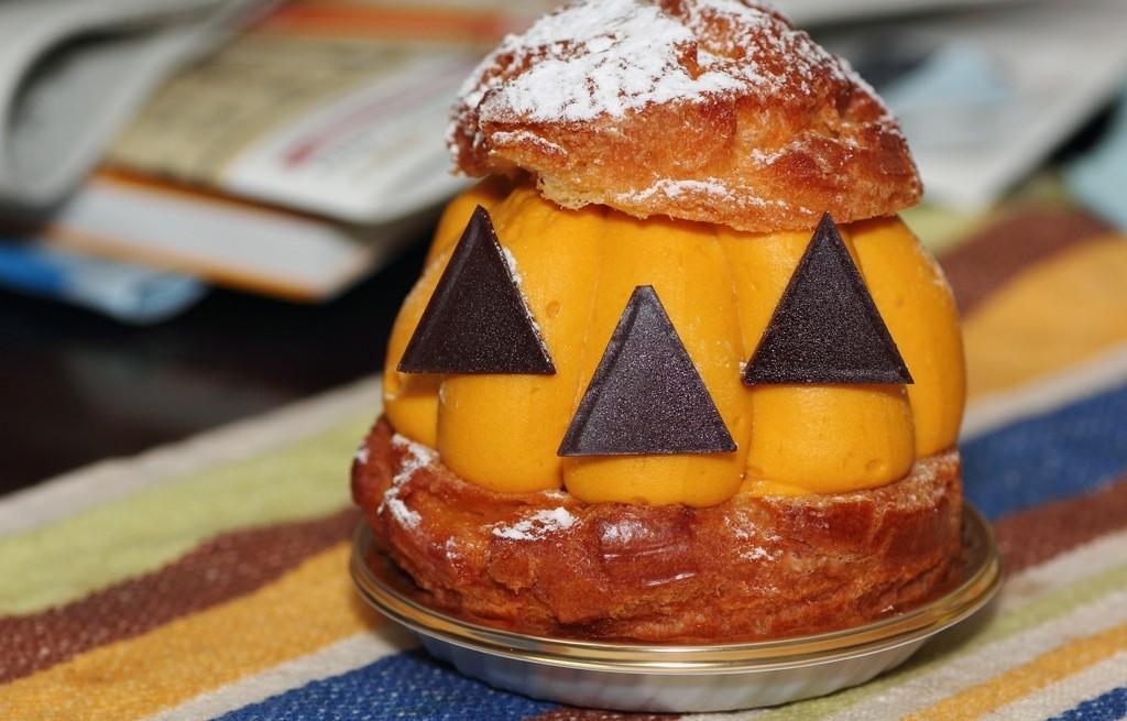 Dyniowy sorbert na Halloween
