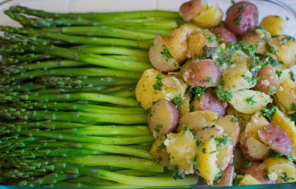 Szparagi z ziemniakami