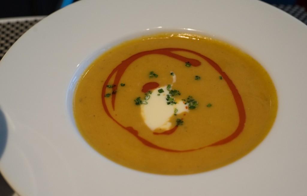 Zupa z dyni i homara