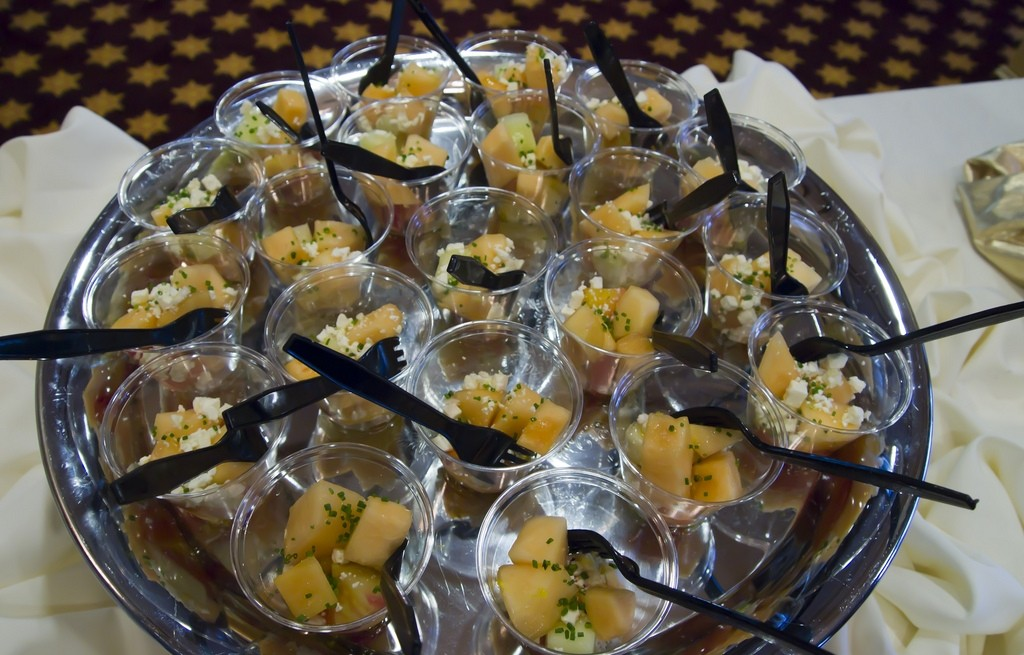 Papaja z serem i ogórkiem
