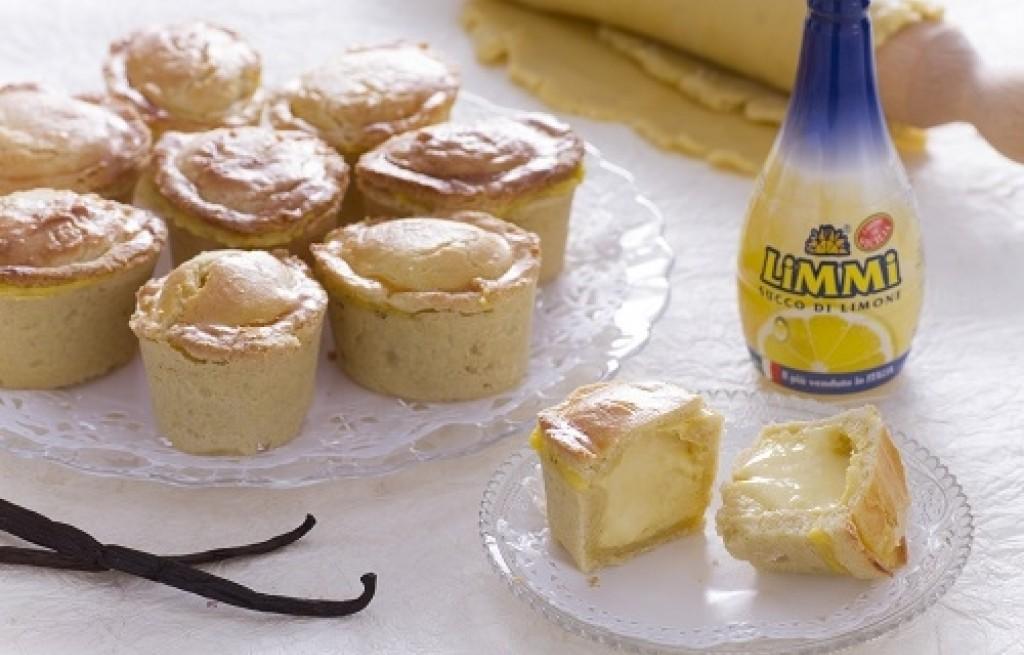Włoskie ciasteczka pasticciotti z ricottą i kremem cytrynowym – przepis