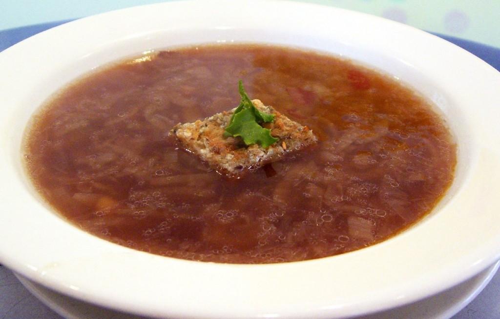 Zupa cebulowa z macą razową