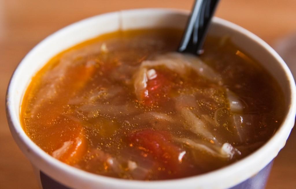 Zupa mięsno-ryżowa z kapustą