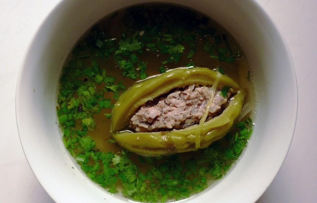 Zupa z nadziewanym melonem