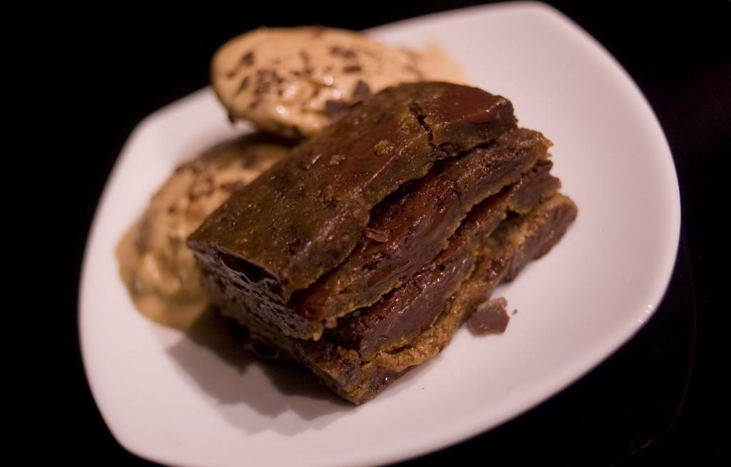 Grzanki z ciastem czekoladowym
