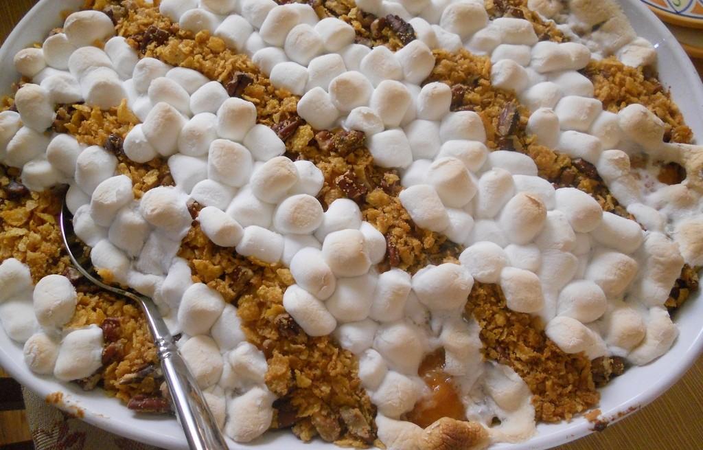 Zapiekanka batatowa z musli i marshmallows