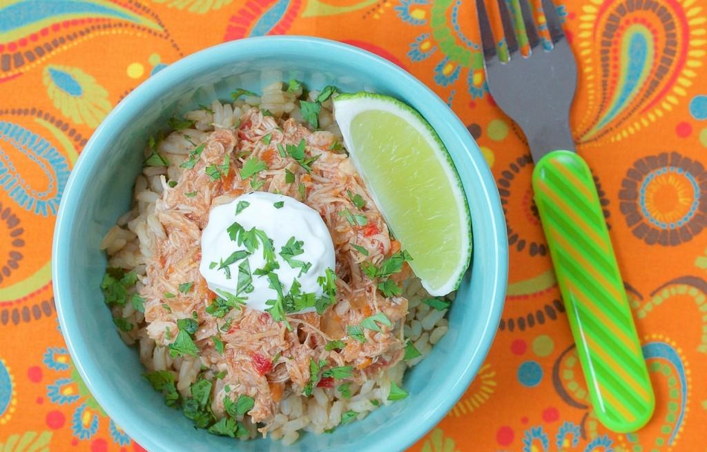 Ryż z kurczakiem, warzywami i śmietaną