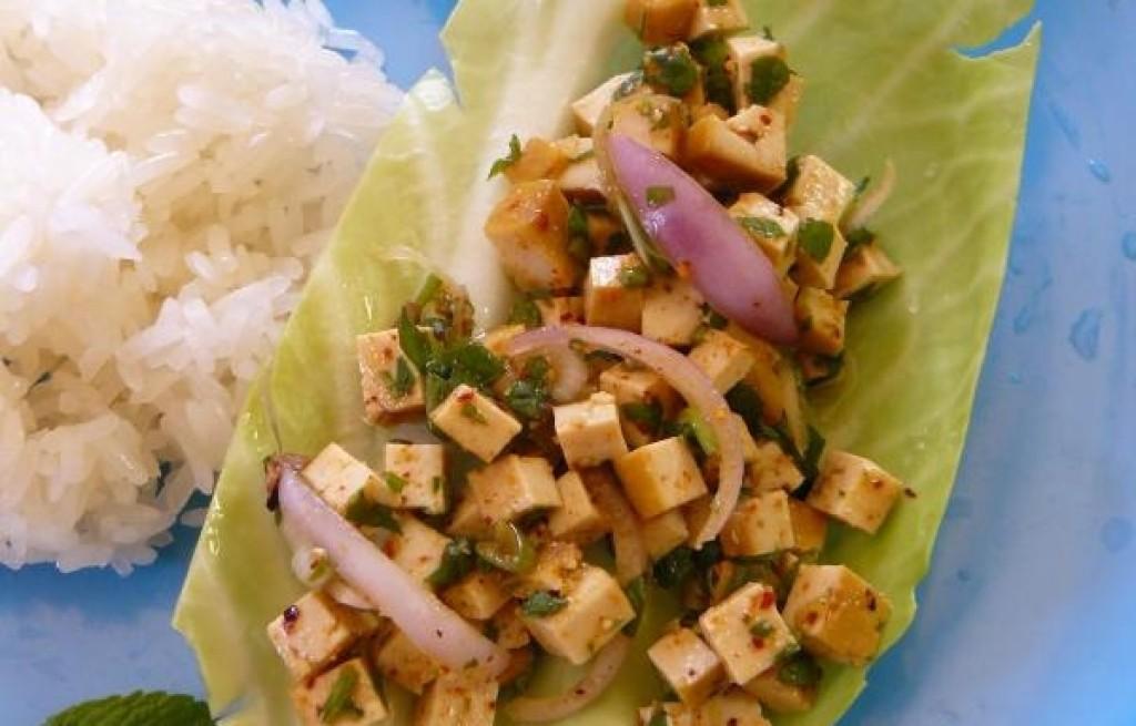 Tofu wędzone w ryżem