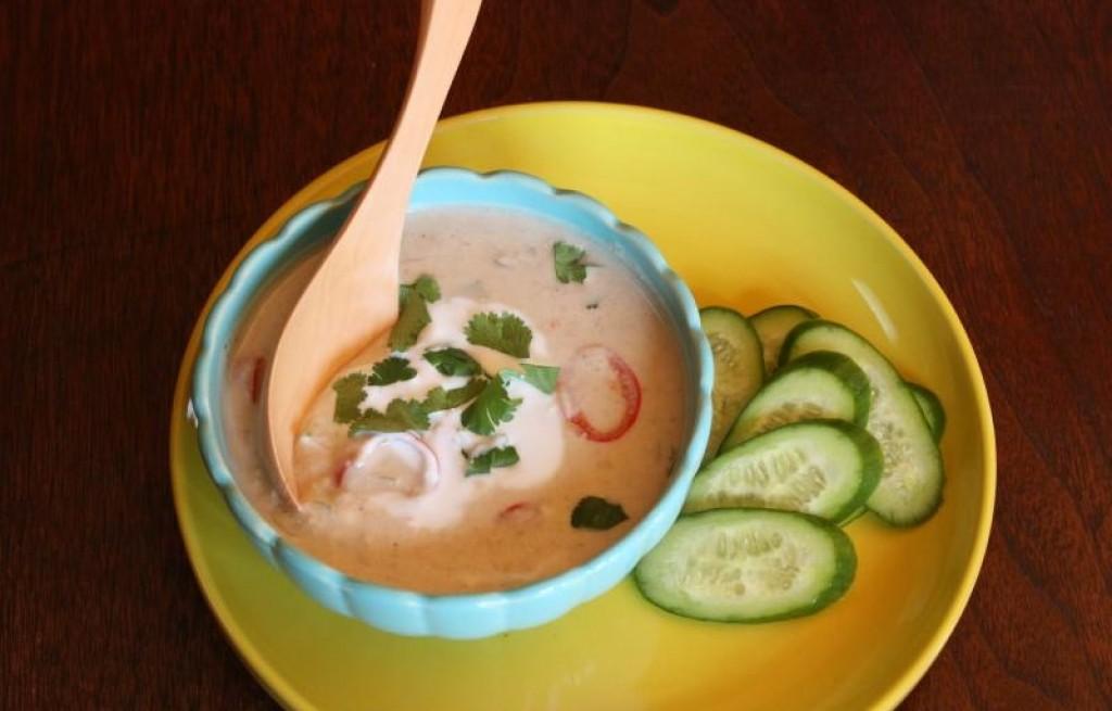 Szynka wieprzowa z krewetkami w mleku kokosowym