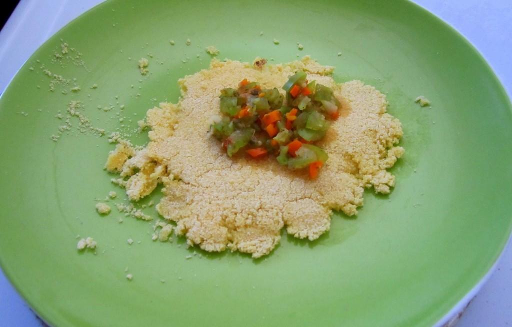 Placki kukurydziane z warzywami