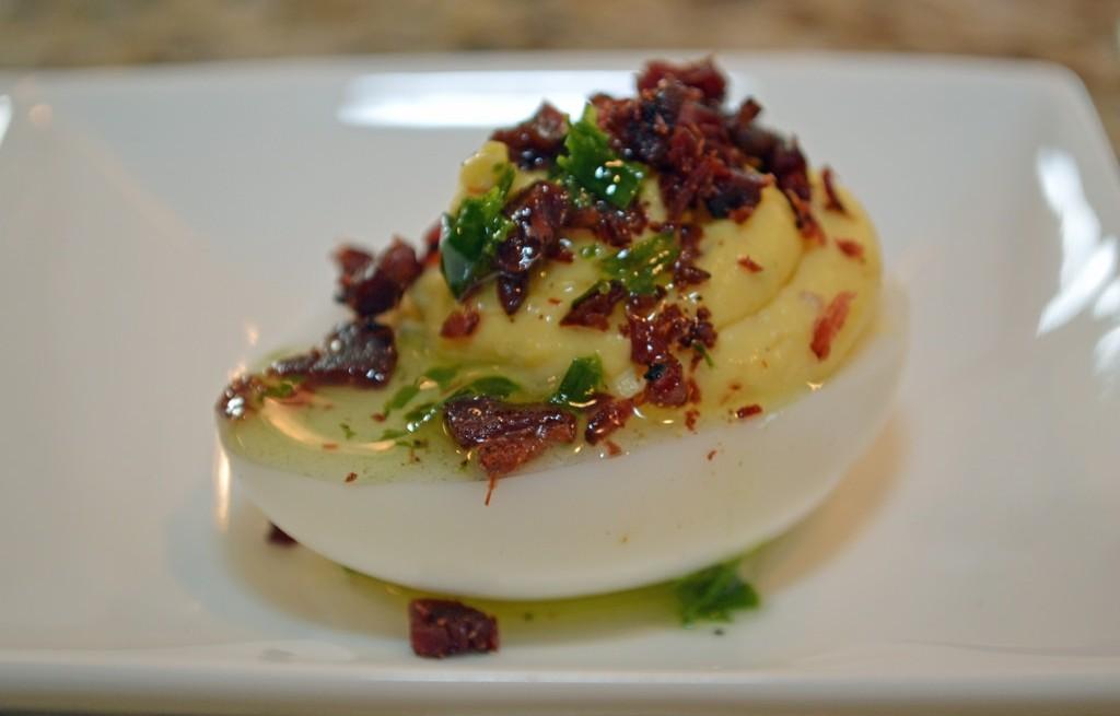 Jajka z ziemniakami i boczkiem