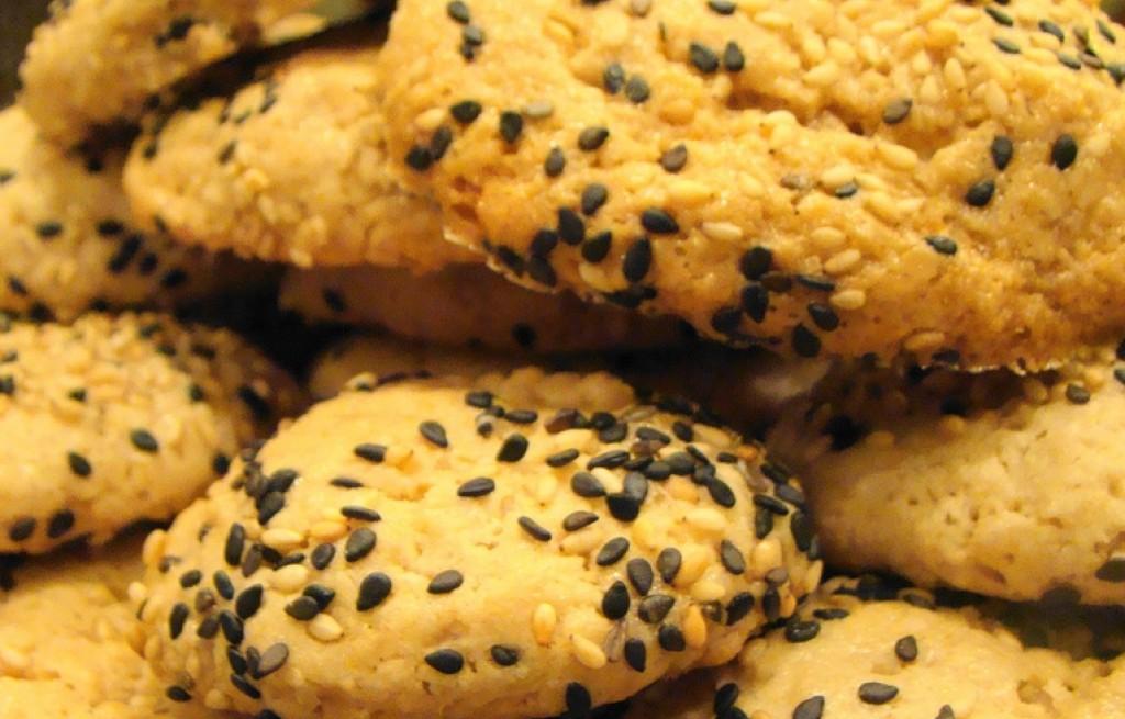 Ciastka owsiano-sezamowe