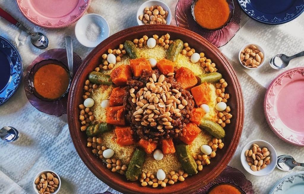 Kuskus z warzywami w curry