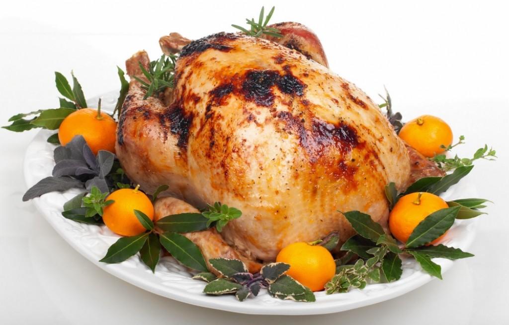 Kurczak pieczony z mandarynkami