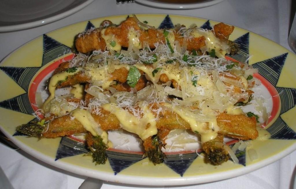 Szparagi panierowane z serem