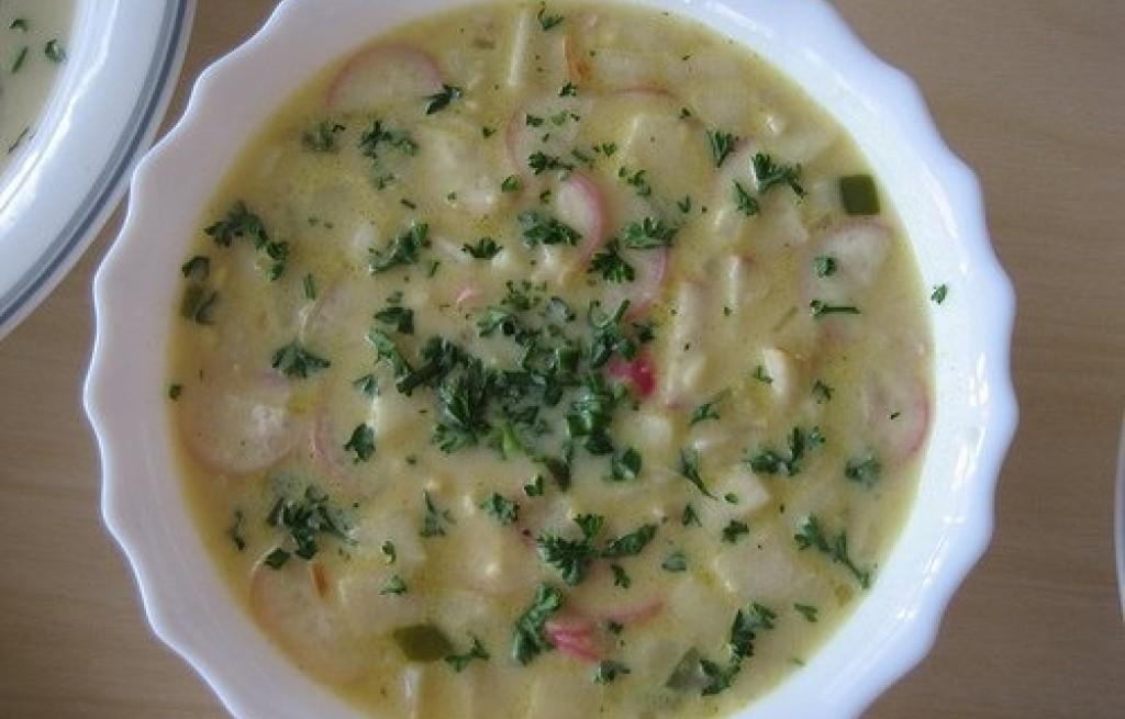 Zupa z rzodkiewek